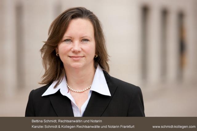 Recht News & Recht Infos @ RechtsPortal-14/7.de | Rechtsanwältin Bettina Schmidt von der Kanzlei Schmidt & Kollegen wurde zur Notarin in Frankfurt bestellt.
