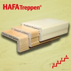 Haussanierung: | HAFA Treppenrenovierung Massivholz Standard-Vorderkanten