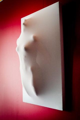 Nordrhein-Westfalen-Info.Net - Nordrhein-Westfalen Infos & Nordrhein-Westfalen Tipps | Alf Metz: Dreidimensionales Wandbild eines weiblichen Körpers
