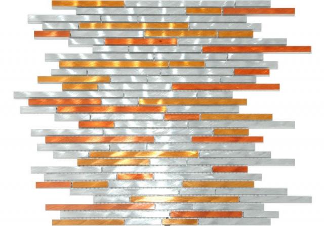 Alu Mosaikstäbchen mit Farbverlauf auf Netz