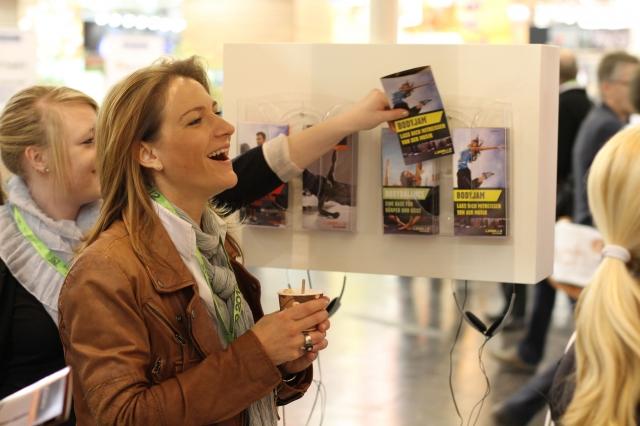 Ostern-247.de - Infos & Tipps rund um Ostern | Viele Hundert Besucher haben sich am LES MILLS Messestand über die Angebote des Marktführers für vorchoreografierte Gruppenfitness informiert