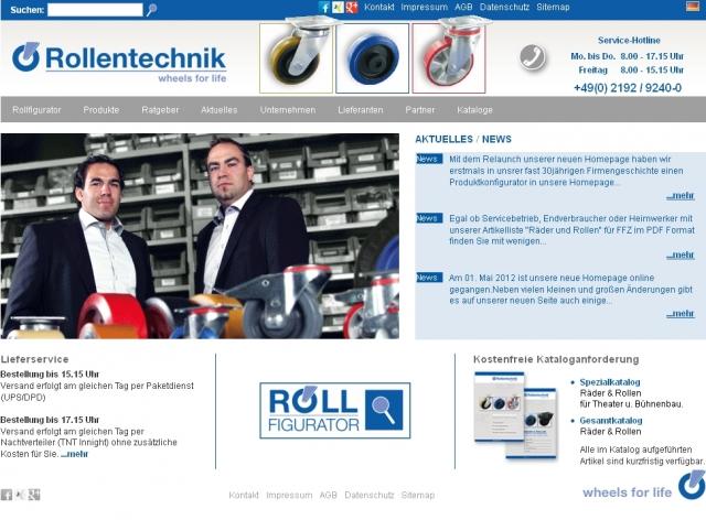 Technik-247.de - Technik Infos & Technik Tipps | Die neue Webseite der Rollentechnik vom Stein GmbH mit dem innovativen Rollfigurator