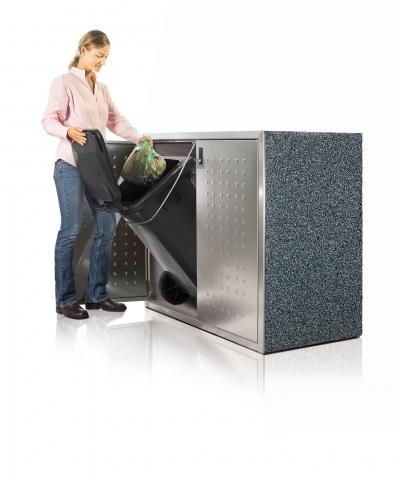SILENT-Müllschränke sind sowohl in  barrierefreier Sonderausführung als auch als Parkplatz für Rollstühle und Rollatoren erhältlich.