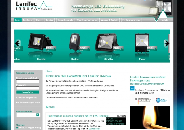 Nordrhein-Westfalen-Info.Net - Nordrhein-Westfalen Infos & Nordrhein-Westfalen Tipps | Film ab: ressource-deutschland.tv stellt drei LED-Beleuchtungsinstallationen von LemTec Innova vor.