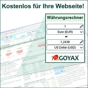 Kiel-Infos.de - Kiel Infos & Kiel Tipps | GOYAX Währungsrechner Widget
