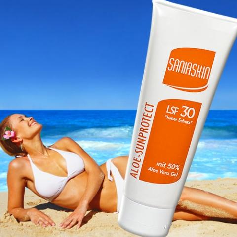 Kosmetik-247.de - Infos & Tipps rund um Kosmetik | SaniaSkin Aloe Vera Sonnenschutzcreme