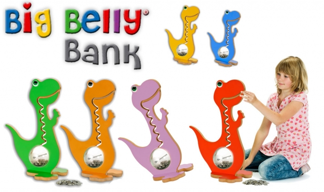 Einkauf-Shopping.de - Shopping Infos & Shopping Tipps | BigBellyBank - Dino Spardosen mit Aha!-Effekt.