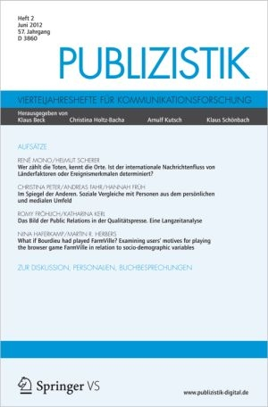 Frankreich-News.Net - Frankreich Infos & Frankreich Tipps | Coverabbildung der aktuellen Ausgabe 02/2012 der Fachzeitschrift Publizistik