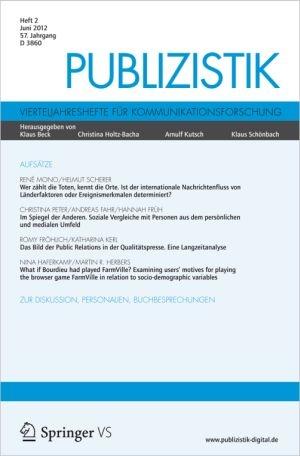 Baden-Württemberg-Infos.de - Baden-Württemberg Infos & Baden-Württemberg Tipps | Coverabbildung der aktuellen Ausgabe 02/2012 der Fachzeitschrift Publizistik