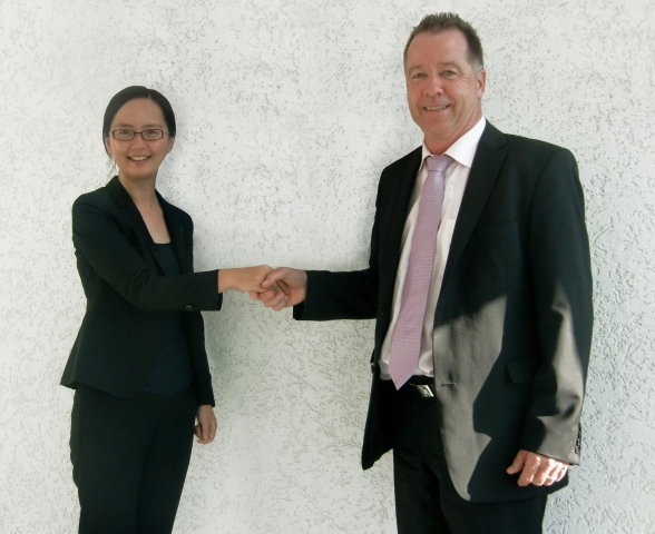 Berlin-News.NET - Berlin Infos & Berlin Tipps | Neue M2M-Partnerschaft: Huo Miaoshu von Huawei mit Michael Nickolai von m2m Germany