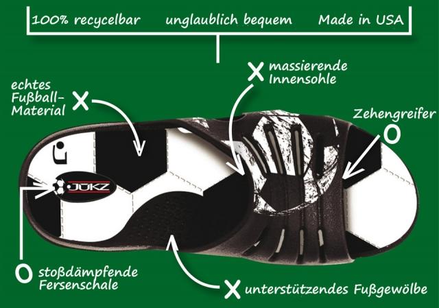 Shopping -News.de - Shopping Infos & Shopping Tipps | Trage deinen Sport: die JUKZ Mr. Fußball Sandale für Herren