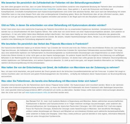 News - Central: Screenshot: Hyaluronsaeure-infos.de