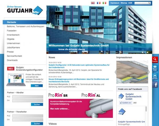 Hessen-News.Net - Hessen Infos & Hessen Tipps | Gutjahr hat seine Internetseite www.gutjahr.com überarbeitet. Planer, Verarbeiter, Händler und Bauherren finden die Informationen rund um Produkte und Anwendungsbereiche jetzt noch einfacher und schneller.