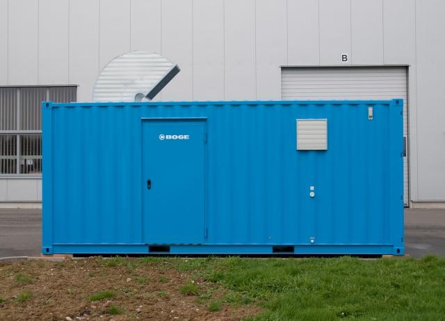 Nordrhein-Westfalen-Info.Net - Nordrhein-Westfalen Infos & Nordrhein-Westfalen Tipps | Containerstationen von BOGE können dort sinnvoll sein, wo der vorhandene Kompressor-Raum zu klein ist, die Kompressoren nicht in der Werkshalle stehen sollen oder auf einer Baustelle nicht mehr viel montiert werden soll.