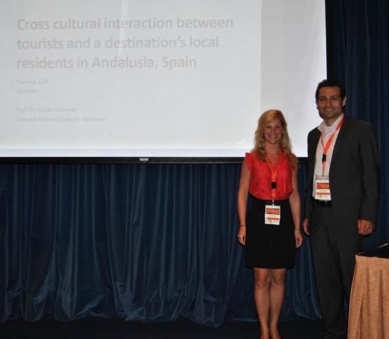 Hotel Infos & Hotel News @ Hotel-Info-24/7.de | CBS-Absolventin Theresa Lülf mit Prof. Dr. Guido Sommer auf der AHTMM