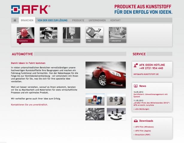 Auto News | Unterschiedlichste Branchen finden auf der Internetseite der AFK Kunststoffverarbeitung GmbH zielsicher Informationen, die für sie wichtig sind.