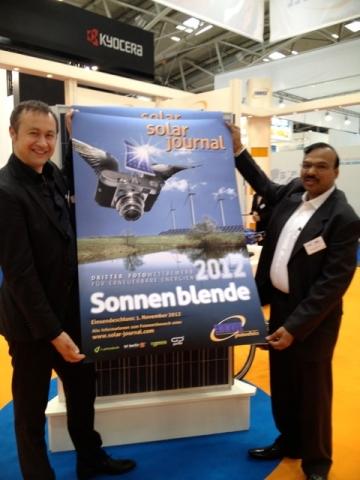 Alternative & Erneuerbare Energien News: Eröffnung des Fotowettbewerbs Sonnenblende 2012 durch S. Graf und D. V. Manjunatha (Foto: F. Hilgenfeld)