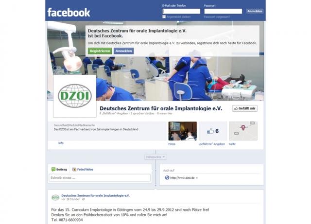 Musik & Lifestyle & Unterhaltung @ Mode-und-Music.de | Das Deutsche Zentrum für orale Implantologie e. V. hat jetzt auch eine eigene Facebook-Seite.