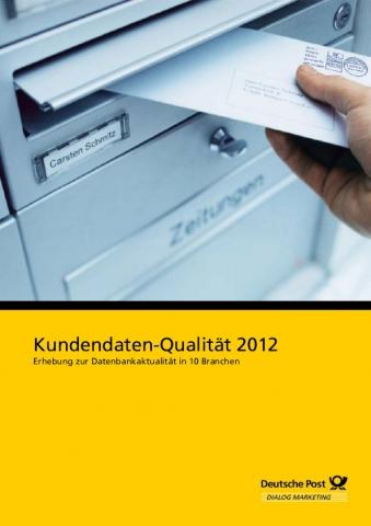 Auto News | Titel Studie Kundendaten-Qualität Bildrechte: Deutsche Post Direkt
