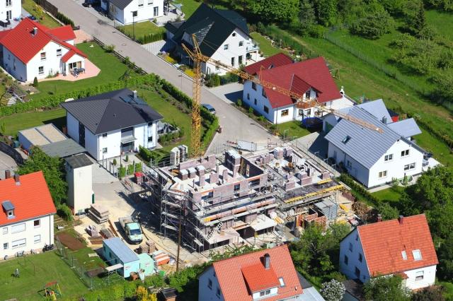 Acht Eigentumswohnungen entstehen in Herbrechtingen, Stockbrunnenweg 2 Foto: Geyer Luftbild