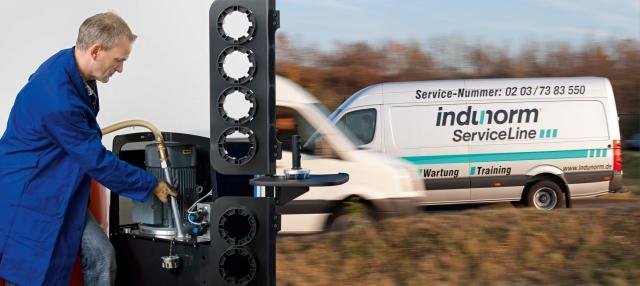 News - Central: Indunorm ServiceLine optimiert die Maschinenverfügbarkeit