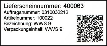 QR-Code auf WWSBAU-Lieferetikett