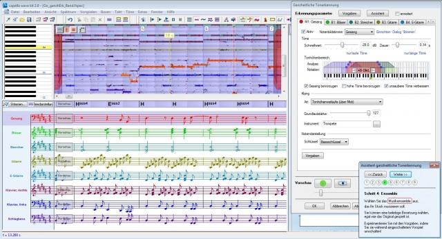 capella wave kit - Bei allen wichtigen Schritten hilft der Assistent
