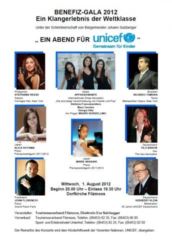 Europa-247.de - Europa Infos & Europa Tipps | Hochkarätig besetztes Konzert zu Gunsten von Unicef mit dem Hotel Unterhof als Gründerhotel