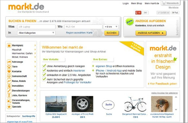 Shopping -News.de - Shopping Infos & Shopping Tipps | markt.de im Redesign: Der Marktplatz für Deutschland optimiert Design und Usability