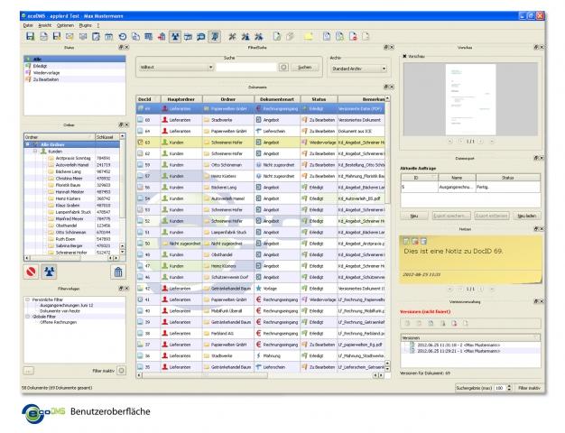 News - Central: ecoDMS 12.05 erstrahlt im neuen, frischen Design!