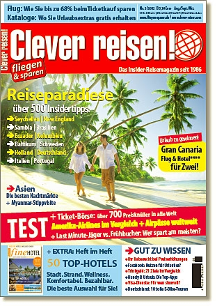 Auto News | Reisemagazin Clever reisen! 3/12 ab sofort am Kiosk!