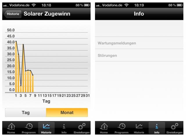 Junkers bietet mit Junkers Home eine App an, die Fehler- und Ertragsdaten direkt von der Anlage empfängt. (Quelle: Junkers)