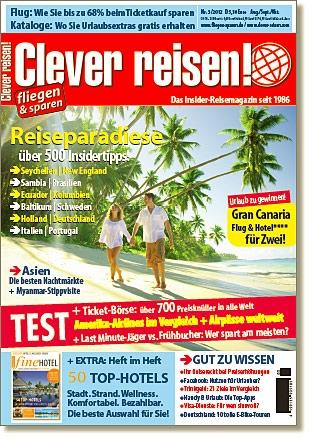 Tickets / Konzertkarten / Eintrittskarten | Reisemagazin Clever reisen! 3/12 ab sofort am Kiosk!