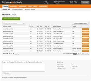 Gutscheine-247.de - Infos & Tipps rund um Gutscheine | Screenshot des Kundenbereichs