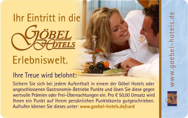 Hotel Infos & Hotel News @ Hotel-Info-24/7.de | Die Göbel Hotels CARD bietet viele attraktive Prämien