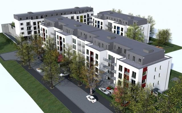 Europa-247.de - Europa Infos & Europa Tipps | Wohnen am Aaper Wald: An der Rüdigerstraße in Düsseldorf-Rath entstehen bis Herbst 2013 drei Mehrfamilienhäuser mit 98 Wohnungen