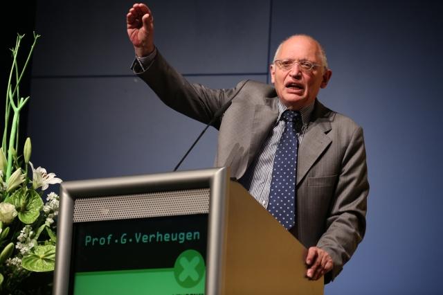 Prof. Günter Verheugen, Vizepräsident der EU-Kommission und EU-Kommissar für Industrie und Unternehmenspolitik a. D.