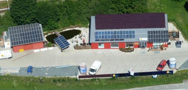 Alternative & Erneuerbare Energien News: Luftaufnahme Energiezentrum in Weißenohe