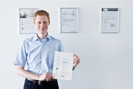 Kleinertz von doubleSlash mit dem ISO-Zertifikat