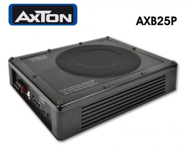 Axtons Aktivsubwoofer AXB25P passt sogar unter den Fahrersitz