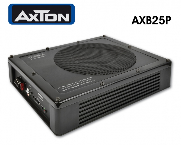 Technik-247.de - Technik Infos & Technik Tipps | Axtons Aktivsubwoofer AXB25P passt sogar unter den Fahrersitz