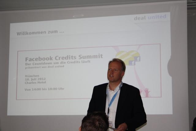 Tickets / Konzertkarten / Eintrittskarten | Kai Boyd, CEO der deal united GmbH, erklärt auf dem 1.Facebook Credit Summit, wie sich Facebook Credits vor ihrem Ende noch einmal als kostengünstiges Marketinginstrument nutzen lassen.