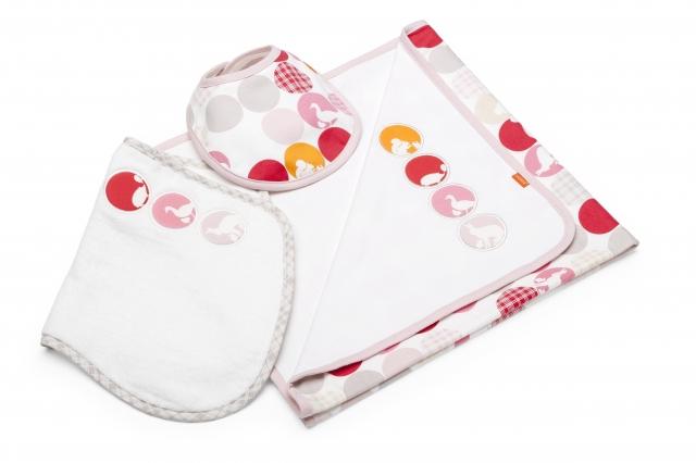 Babies & Kids @ Baby-Portal-123.de | Das Stokke® Deckenset mit Jersey Decke, Spucktuch und Lätzchen.