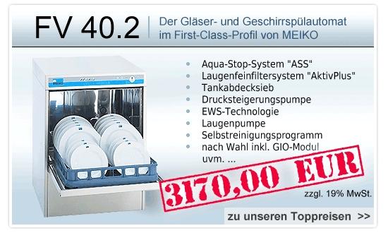 Restaurant Infos & Restaurant News @ Restaurant-Info-123.de | MEIKO Geschirrspülmaschine FV 40.2