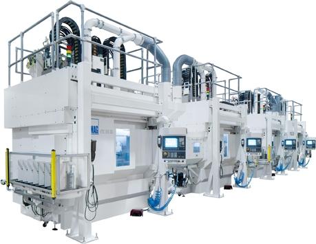 Auto News | EMAG liefert ein Fertigungssystem zur Komplettbearbeitung von Nockenwellen an den Autobauer Changan. Von der Weichbearbeitung bis zum Schleifen – alles auf der VTC-Plattform.