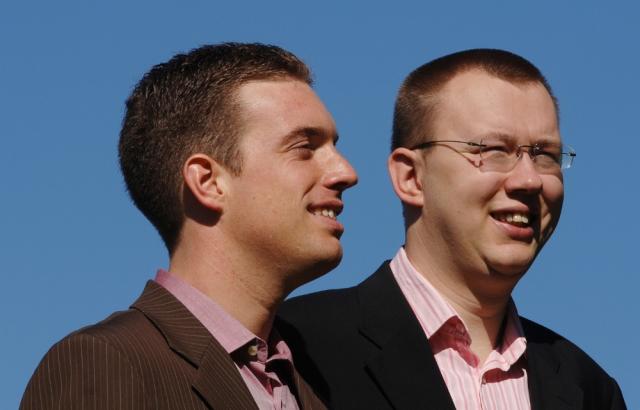 Technik-247.de - Technik Infos & Technik Tipps | Benjamin Fritz (li.) und David Muggli gründeten gemeinsam die PRIOGO AG