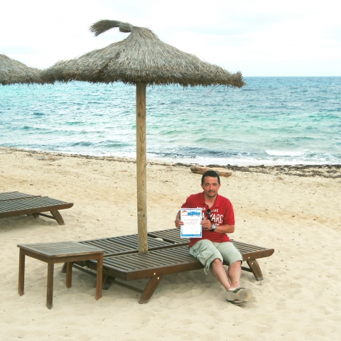 Gutscheine-247.de - Infos & Tipps rund um Gutscheine | Christian Such löste seinen Reisegutschein für einen Urlaub am Traumstrand von Formentera ein