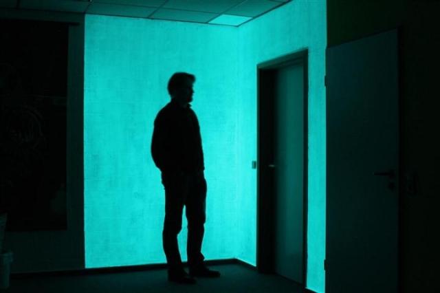 Beispiel: NighTec Nachtfarbe - die leuchtende Wandfarbe