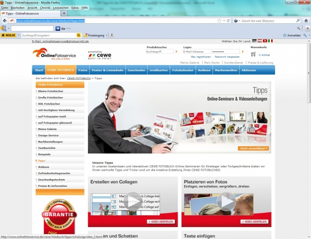 Europa-247.de - Europa Infos & Europa Tipps | Extra-Service bei OnlineFotoservice.de: CEWE FOTOBUCH leicht gemacht