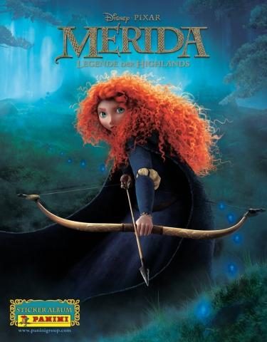 """Panini erzählt in der neuen Stickerkollektion """"Merida – Legenden der Highlands"""" die Geschichte der  Disney-Kinoheldin in Klebebildchen nach."""